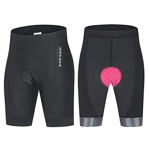 YOJOLO Culotes Ciclismo Mujer Acolchados Pantalones Cortos De Bicicleta Transpirables De Secado Rápido Antideslizante MTB Shorts De Bicicleta,Negro,M