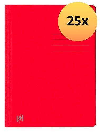 Oxford Top File + Schnellhefter A4, extrastark aus Karton, rot, 25 Stück