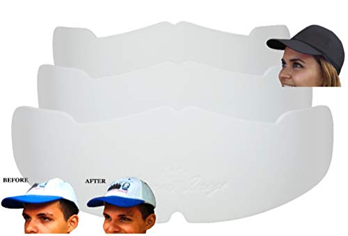 3Pk. White Manta Ray Baseball Caps Crown Inserts for Low Profile Caps| Hat Shaper| Hat Stretcher| Hat Stiffener| for Flex-fit Hats |Hat Support| Hat Padding| Hat Cleaning Aide| Cap Storage| 100% MBG.