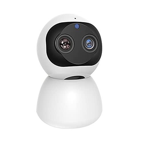 PDFF Smart Baby Monitor, HD 1080P Zoom Múltiple 360 ° Gran Angular Cámara WiFi Interior Vigilancia de Seguridad para el Hogar Monitor de Cámara IP, Utilizado para Bebés/Mascotas/Niñeras