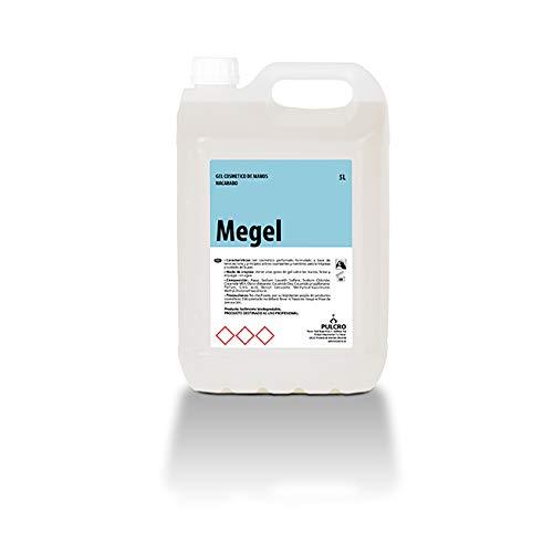 Gel cosmético de manos MAGEL garrafa de 5 Litros. Apto uso en hogares, restaurantes, cafeterías, hoteles, residencias, hospitales, albergues, hoteles o gimnasios.