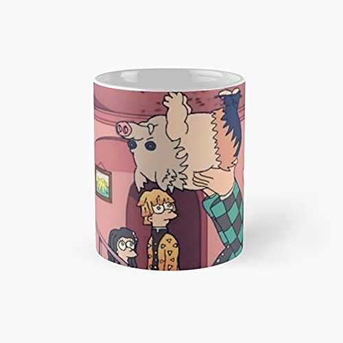 Spider Pig Meme K.i.m.etsu No Y.aiba De.mon Slay.er Classic Mug - Unique Gift Ideas For Her From Daughter Or Son Cool Novelty Cups 11 Oz.