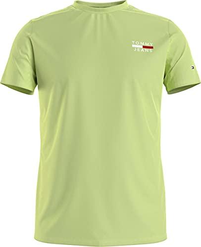 Tommy Jeans TJM Chest Logo tee Camiseta, Lima Desteñida, M para Hombre