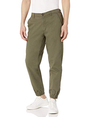 Amazon Essentials Men's Straight-Fit Jogger Pant, Olive, Large