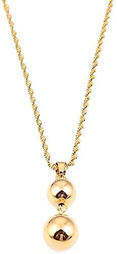 VSWQW Co.,ltd Collar de Perlas Collares Pendientes para Mujeres Hombres Bola Lucky Love joyería Regalo
