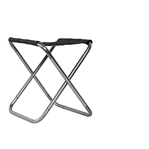 Xsqq Silla de aleación de aleación de Aluminio Plegable al Aire Libre Pesca de Asiento Camping Camping al Aire Libre Silla de Pesca Plegable portátil Silla de Camping portátil