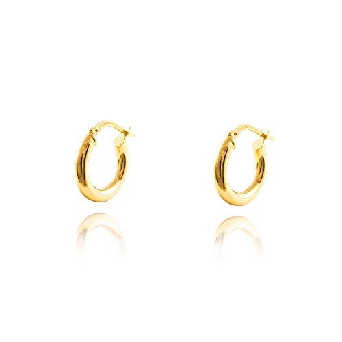 Orecchini per donna rotondo - oro giallo 18K (750)