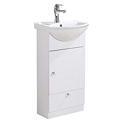Small Bathroom Vanity Sink Cabinet Vitreous China Sink Comes With Faucet And Drain Assembly Required Install Hardware Included Renovators Supply Manufacturing