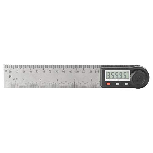 Edelstahl Digitalanzeige Winkel Lineal Goniometer Hochpräziser Winkelmesser für zu Hause mit Verriegelungsknopf(200mm)