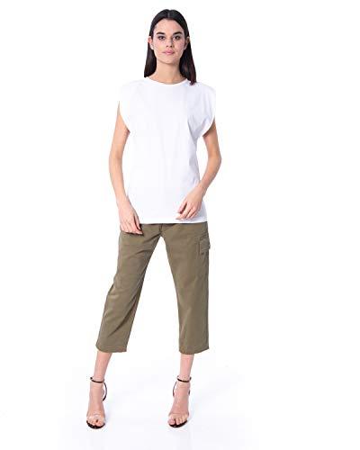 Silvian Heach Bouacra T-Shirt, Donna, Bianco (White Xw0), 42 (Taglia Produttore:S)