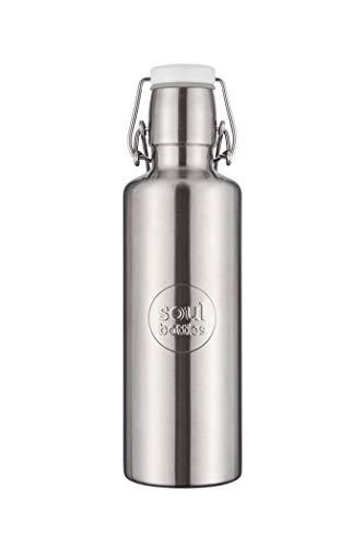 soulbottles Steel 0,6l grau • Trinkflasche aus Edelstahl • plastikfrei, nachhaltig, auslaufsicher