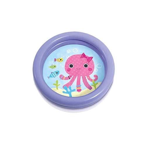 DFKDGL Klappschwimmbad Schwimmbad, Kinderbecken, aufblasbare Sommerwanne für Kinder Runde 61 * 15CM Gelb Ideal für alle Kinder und Erwachsene
