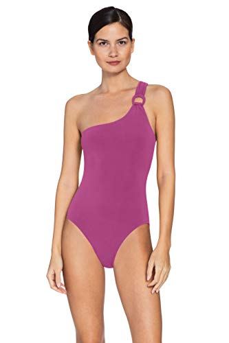 Robin Piccone Women's Kate One Shoulder One Piece Swimsuit Orchid 2