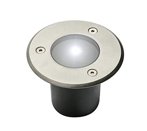 FARETTO DA INCASSO PER PAVIMENTO esterno rotondo mini acciaio inossidabile lampada da giardino IP67GU 10lampada del patio