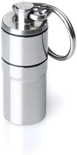 GUS Pairamedic Pill Fob, Made in USA, Stainless Steel Keychain Pill Holder, Aspirin & Nitro Bottle Holder