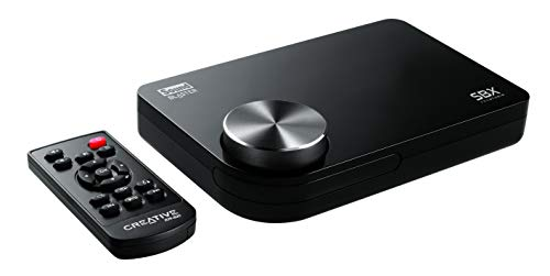 Creative Sound Blaster X-Fi Surround 5.1 Pro v3 Externe Geluidskaart, USB, met SBX Pro Studio-Technologie, voor Windows 10, Zwart