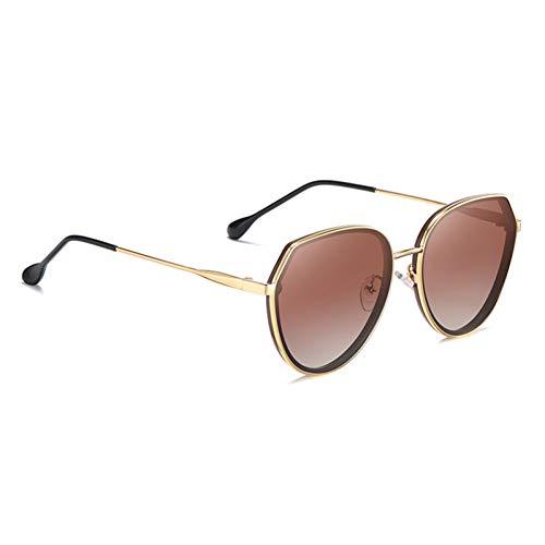 TYJYTM Polarisierte Sonnenbrille Damenmode Verlaufslinse Randlose Sonnenbrille Damenbrille Damen UV400