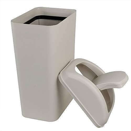 Ponpong 14 L Cubos Basura Basurero Cubo de Basura Papelera Cocina Plastico Con Tapa Basculante, 1 Unidad