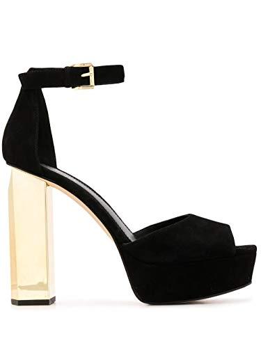 Luxury Fashion | Michael Kors Dames 40R0PEHS1S001 Zwart Suôde Sandalen | Lente-zomer 20
