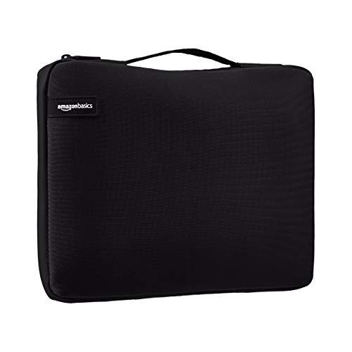 Amazon Basics - Funda para ordenador portátil profesional (con asa retráctil) de 29,46 cm, negro