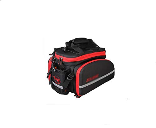 Review ZFF Mountain Bike Rear Seat Bag Waterproof Large Capacity Outdoor Mountaineering Travel Bag