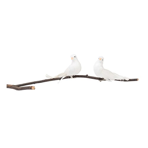 GALLERIE II White Dove Birds Clip Christmas Xmas Ornament A/2 White