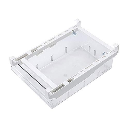WEQQ Compartimento de la Caja de Almacenamiento del frigorífico Cajón Organizador del cajón del frigorífico (Blanco, sin partición)