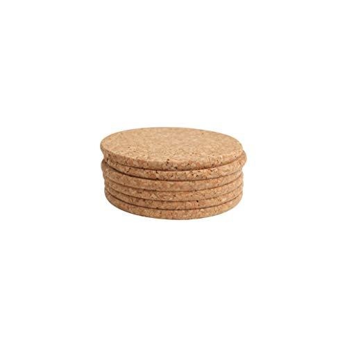 T&G Woodware - Juego de Posavasos (Corcho, 10 x 0,6cm, 6 Unidades)