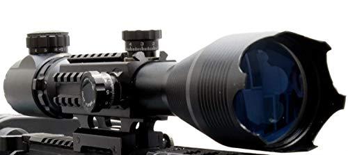 In Your Sights Sus MONUMENTOS 4-16x50 Alcance del Rifle con Táctico Rieles para TEJEDOR Rieles