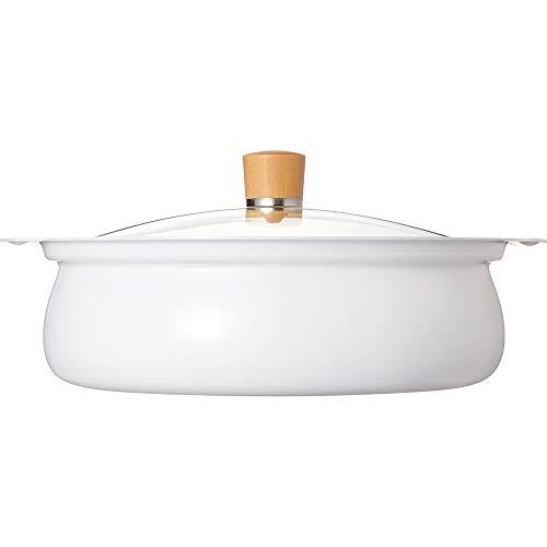 和平フレイズ 丸いカタチがかわいい 白いから料理が映える 卓上鍋 27cm 9号サイズ 4~5人用 IH・ガス対応 ころんぽっと RB-1680