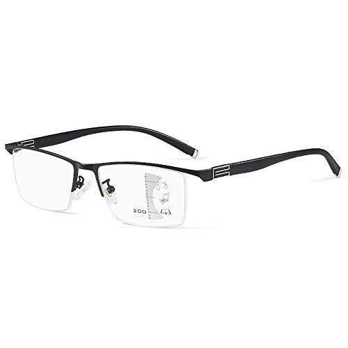 Gafas De Lectura Inteligentes Multifocales Anti Luz Azul Para Hombres, Gafas Ópticas De Grado De Ajuste Progresivo Para Ancianos