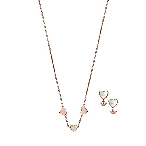 Emporio Armani Women's Sterling Silver Set, Necklace and Earrings EG3416221