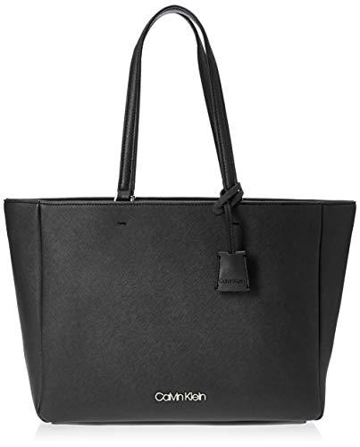Calvin Klein Worked Shopper, Damen Tote, Schwarz (Black), 13x27x47 cm (W x H L)