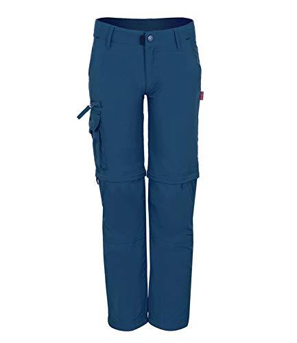 Trollkids Quick-Dry Zip-Off Hose Oppland Slim Fit, Mystik Blau, Größe 134
