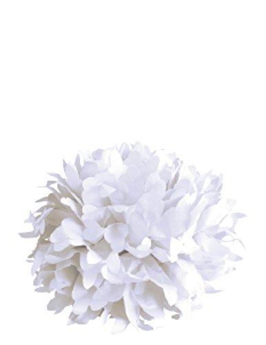 Rayher 87093102 Papier-Pompoms, 35cm ø, weiß, 3 Stück, Partydekoration