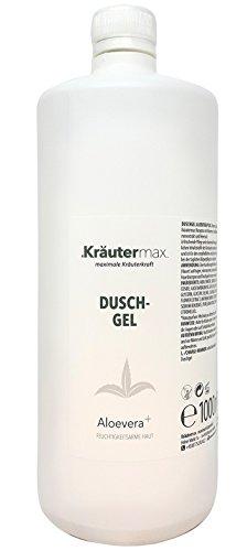 Kräutermax Aloe Vera Duschgel 1 x 1000 ml Naturkosmetik Shampoo Ohne Zusatzstoffe