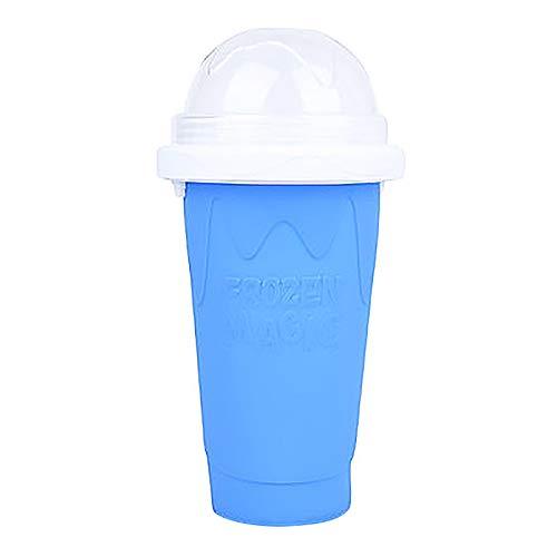 Slushie Maker Cup, Tik Tok Magic Schnellgefrorene Smoothies Tasse KüHlbecher Doppelschicht-Quetschbecher Slushy Maker, Hausgemachte Milchshake-Eismaschine Diy FüR Kinder Und Familien (Blau, 1)