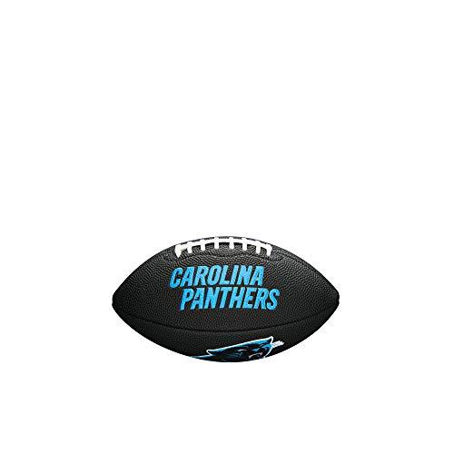 NFL Team Logo Mini Football, Black - Carolina Panthers