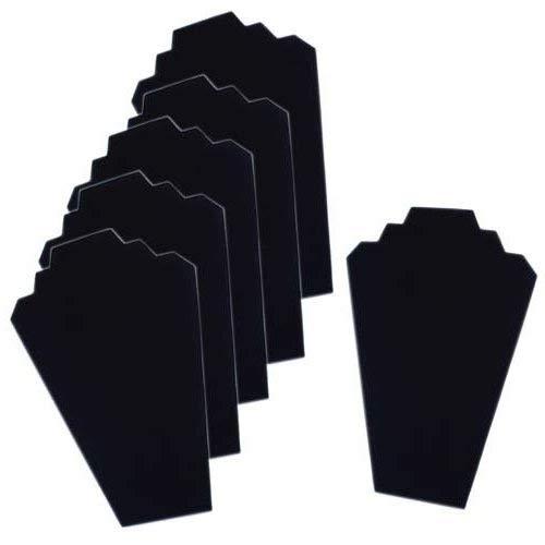 Joyas de terciopelo negro 12.5caballete expositor Torre rack para casa Dormitorio (Paquete de 6) de Super Z salida