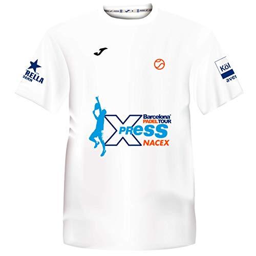 Barcelona Padel Tour | Camiseta Técnica de Manga Corta para Hombre Joma Xpress by Nacex con Estampación Especial de Pádel | De Tacto Suave y Secado Rápido | Ropa Deportiva
