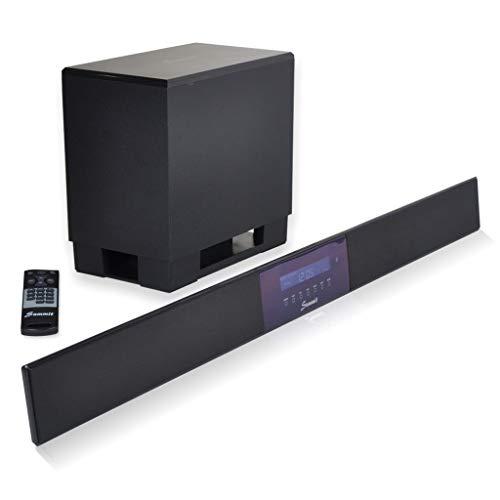 SUMMIT Soundbar A50-1000 - High End Yamaha Digital-Sound-Prozessor 5.1-140W (Wireless Subwoofer, Fernbedienung, Bluetooth)