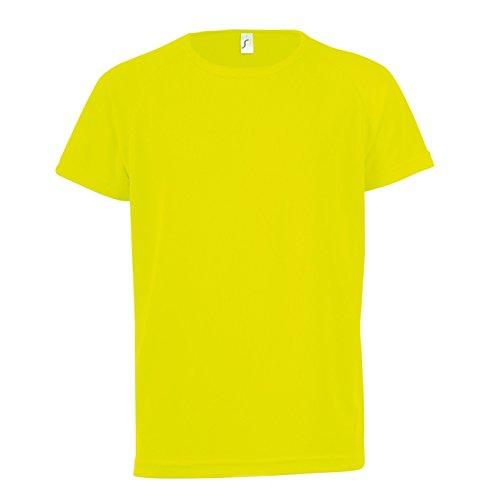 Sols Kinder Unisex T-Shirt Sporty, Kurzarm (12 Jahre (152)) (Neon Gelb)