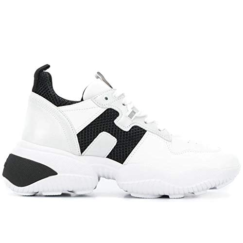 Hogan Sneakers Donna Interaction Bianco e Nero - HXW5250CW70 OKT0PU8 - Taglia 36