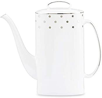 Kate Spade New York Larabee Rd Platinum coffeepot and lid