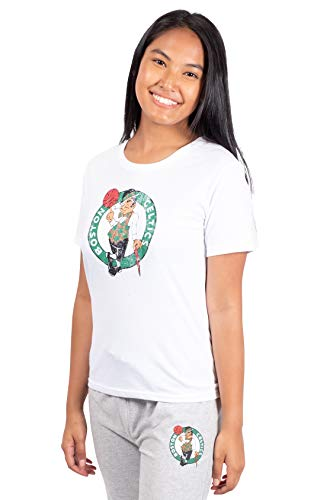 Ultra Game NBA Boston Celtics Womens Soft Vintage Jersey Tee Shirt, White, Medium