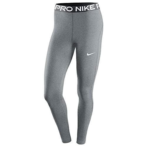 NIKE W NP 365 Tight Leggings, Smoke Grey/htr/Black/White, L Women's