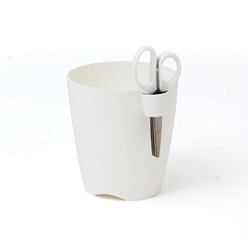 Prosper Plast Dlu150-s449 15 x 16 cm Citron Vert Uno Pot de Fleurs – Blanc