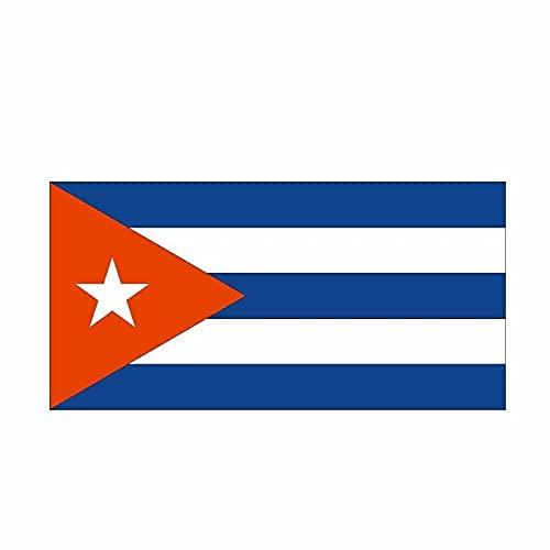 WBXZY Pegatinas de Coche 16,5 CM * 8,2 CM Accesorios de Coche Bandera de Cuba Pegatina de Coche Estilo calcomanía 6-0545