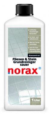 norax Fliesen & Stein Grundreiniger sauer 1 l - Reinigt kraftvoll säurebeständige Oberflächen