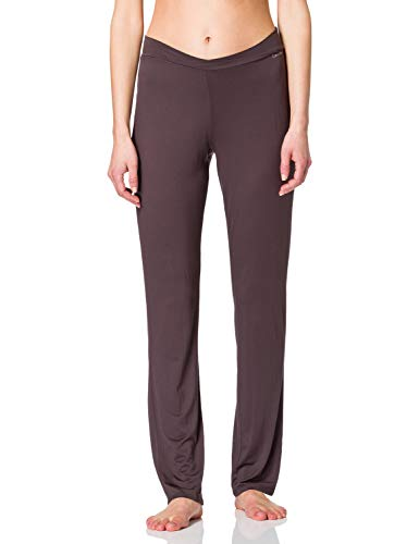 Calvin Klein Damen Schlafanzughose PERFECTLY FIT - LONG PJ PANT, Einfarbig, Gr. 36 (Herstellergröße: S), Braun (LIQUEUR 31A)
